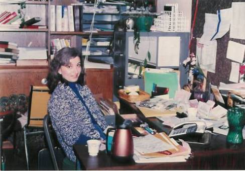 Jeanine Durand Arnopoulos in the office in 1984.